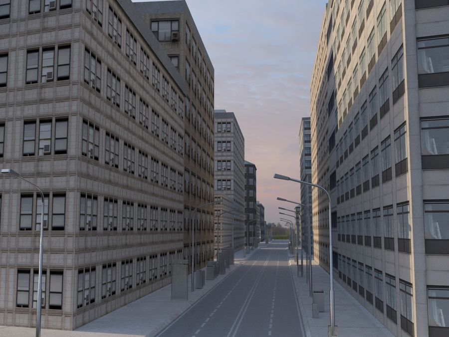 City low poly royalty-free 3d model - Preview no. 5