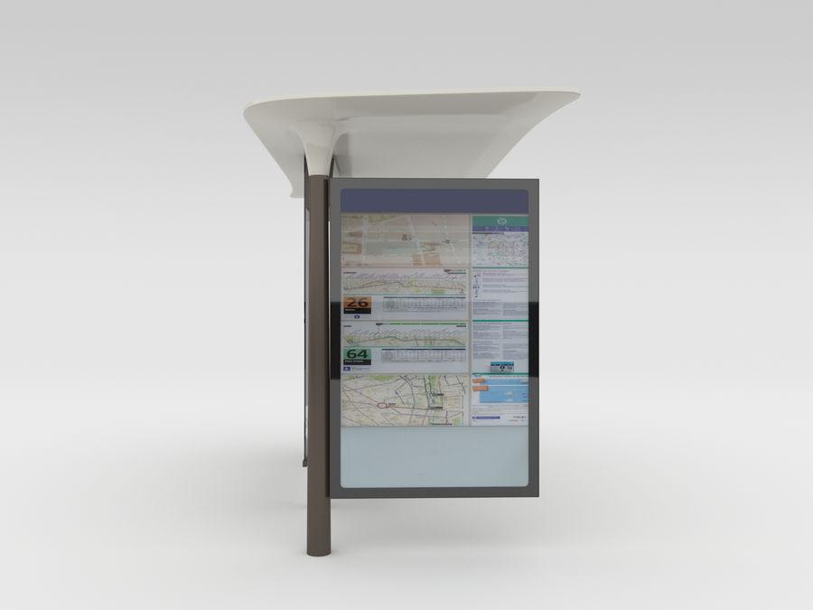 Nieuwe Parijs bushalte Abribus royalty-free 3d model - Preview no. 5