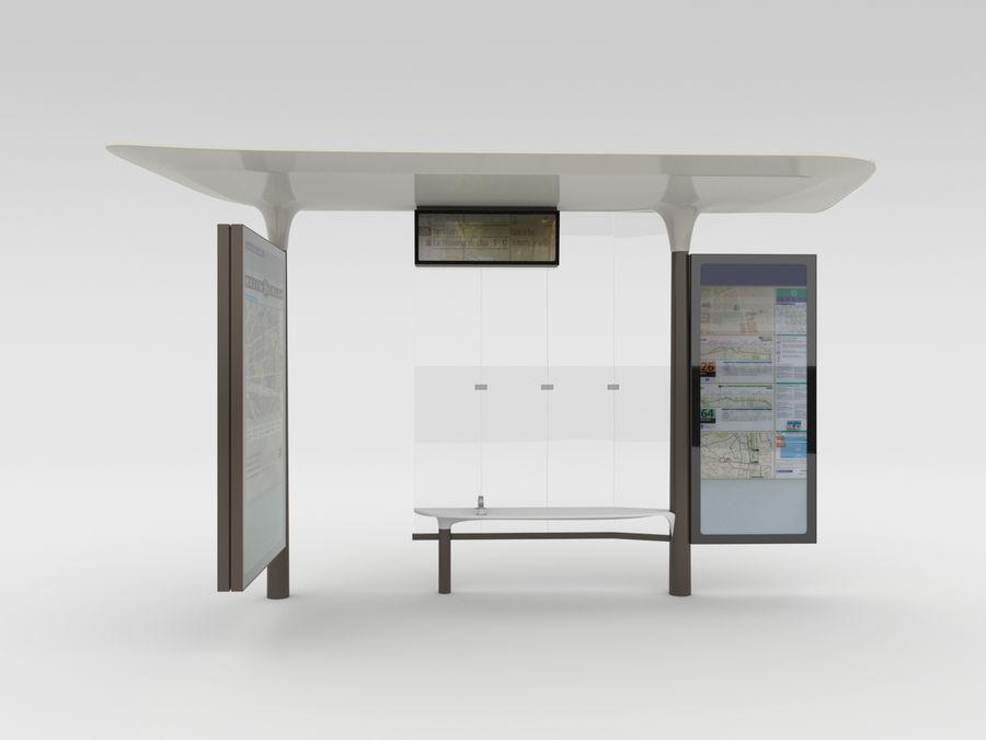 Nieuwe Parijs bushalte Abribus royalty-free 3d model - Preview no. 2