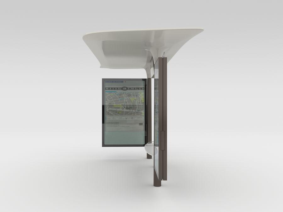 New Paris Bus Stop Abribus royalty-free 3d model - Preview no. 4