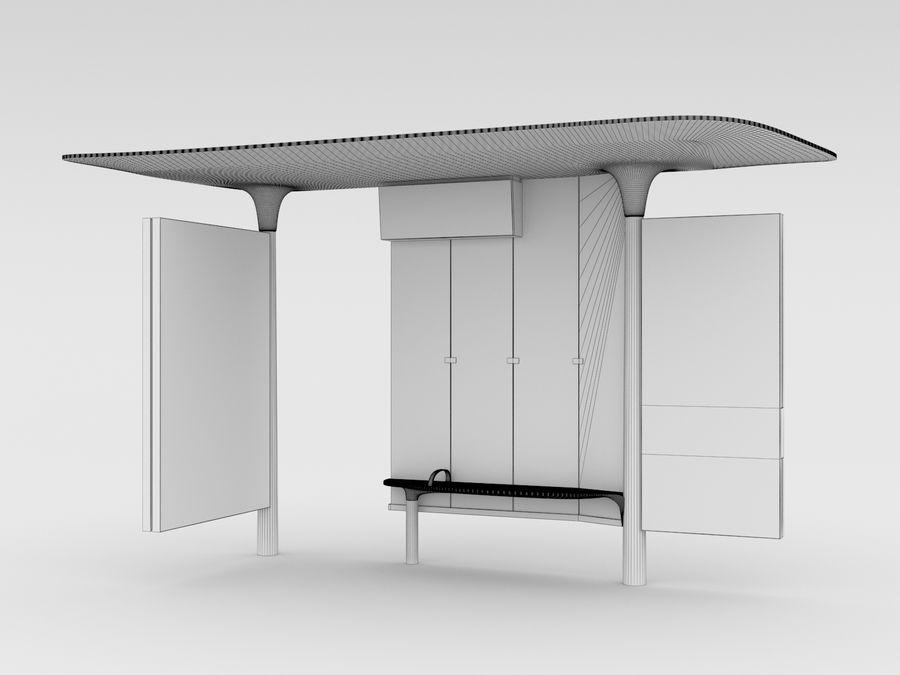 New Paris Bus Stop Abribus royalty-free 3d model - Preview no. 8