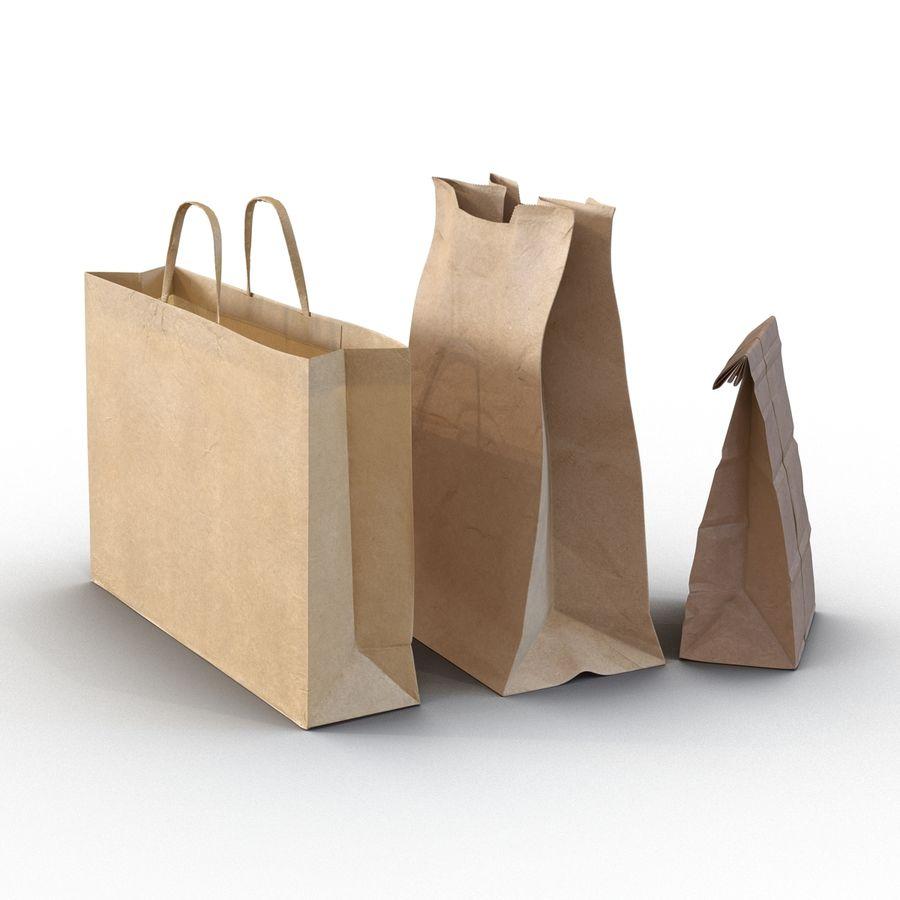 Paper Bags Collection 3D Model $49 -  c4d  ma  max  obj  3ds