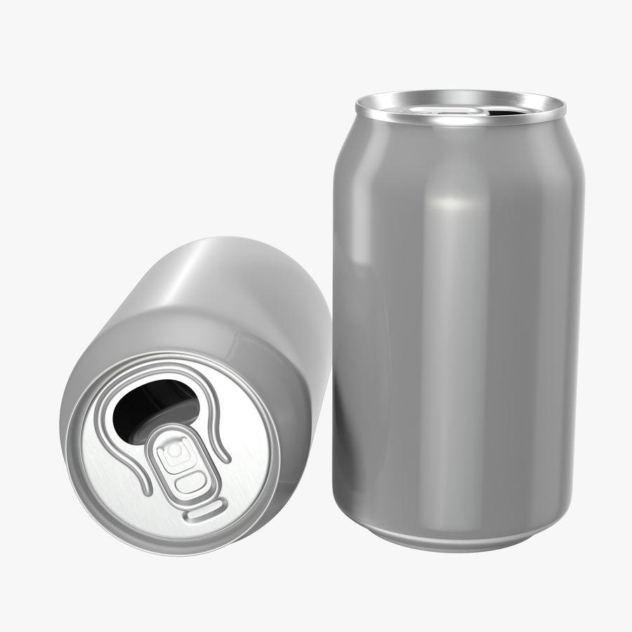 Aluminium Can Open 3D Model royalty-free 3d model - Preview no. 1