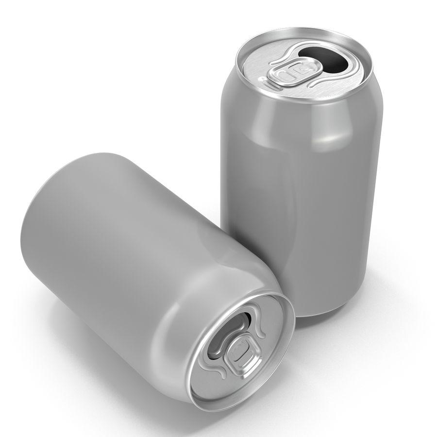 Aluminium Can Open 3D Model royalty-free 3d model - Preview no. 4
