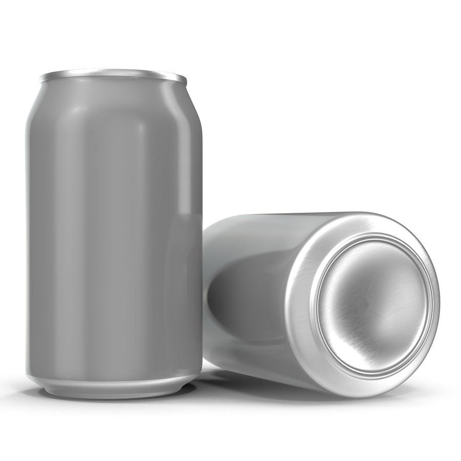 Aluminium Can Open 3D Model royalty-free 3d model - Preview no. 5