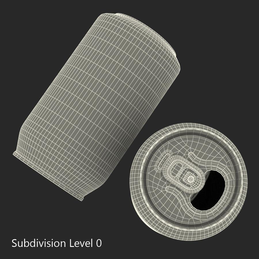 Aluminium Can Open 3D Model royalty-free 3d model - Preview no. 12