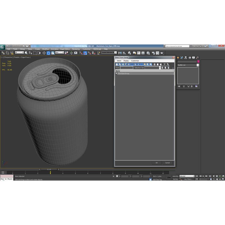 Aluminium Can Open 3D Model royalty-free 3d model - Preview no. 16