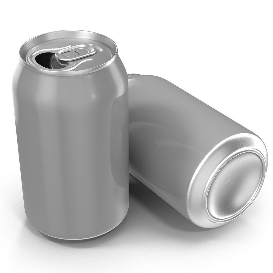 Aluminium Can Open 3D Model royalty-free 3d model - Preview no. 3