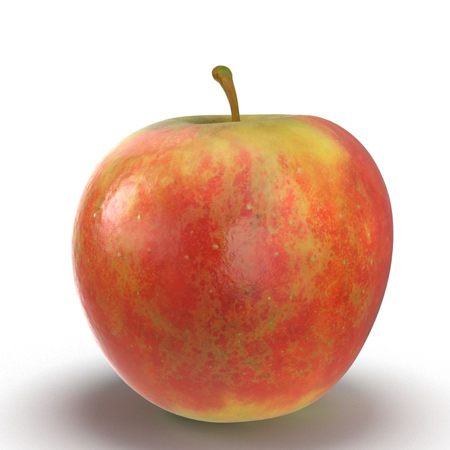 Fruta de manzana royalty-free modelo 3d - Preview no. 10