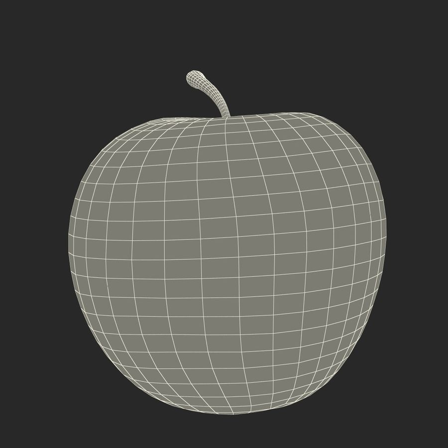 Fruta de manzana royalty-free modelo 3d - Preview no. 22