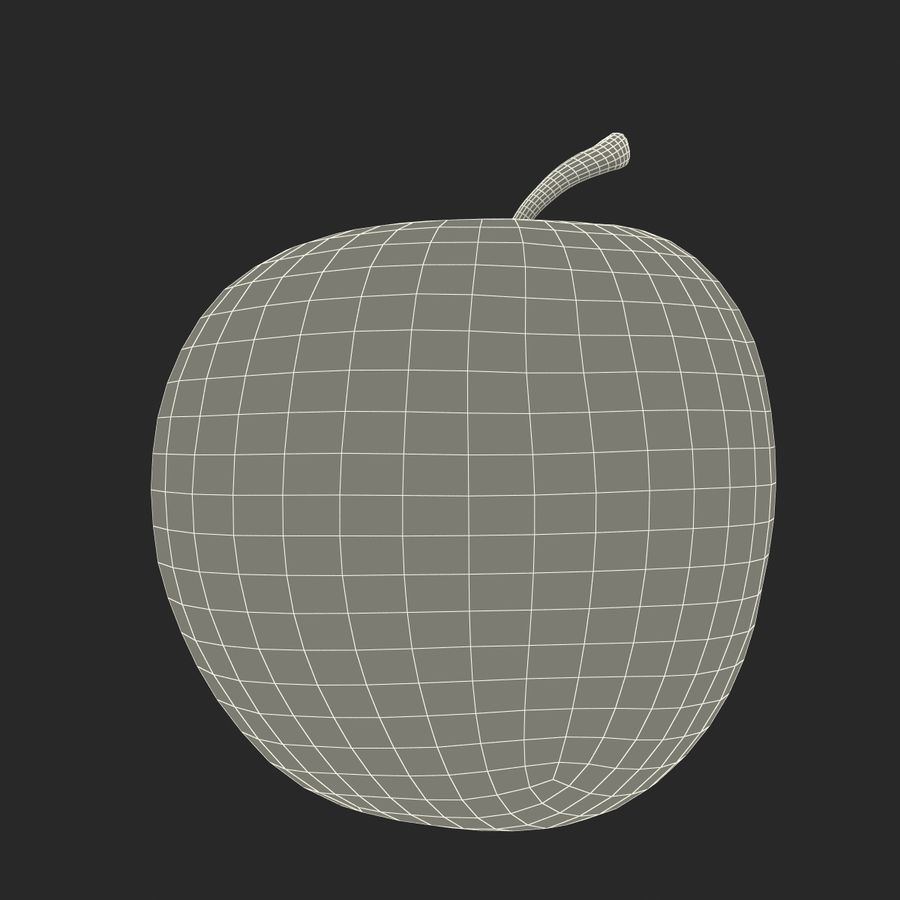 Fruta de manzana royalty-free modelo 3d - Preview no. 23