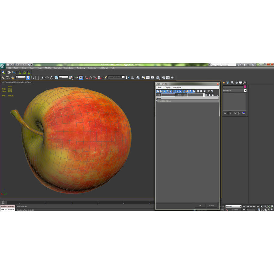 Fruta de manzana royalty-free modelo 3d - Preview no. 20