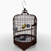 Bird Cage and Canary 3d model