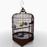 鸟笼和金丝雀 3d model