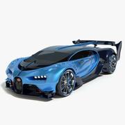 2016 Bugatti Vision Gran Turismo 3d model