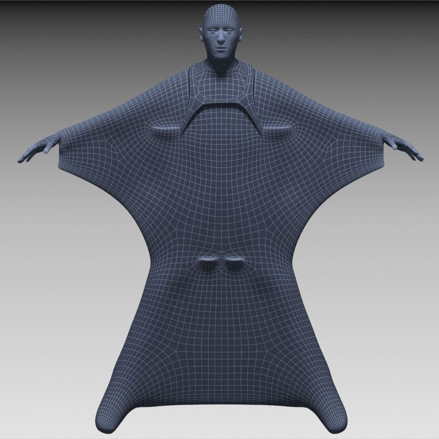 3D Wingsuit Male Flyer Model Rigged Animated royalty-free 3d model - Preview no. 15