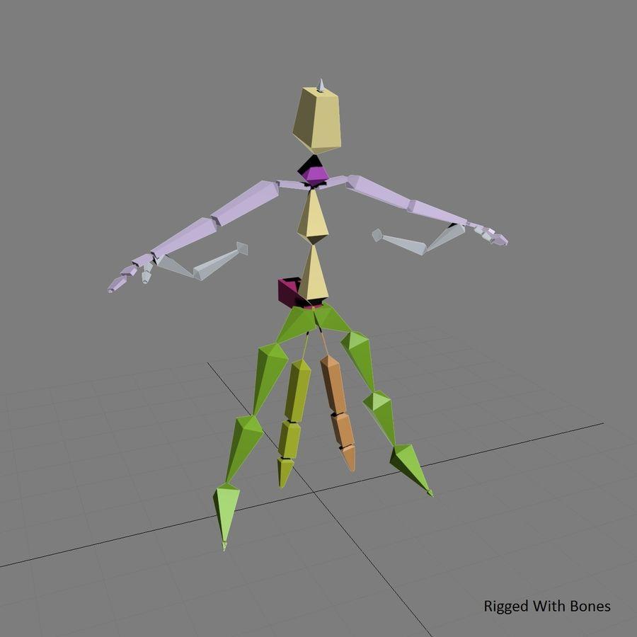 3D Wingsuit Mannelijke Flyer Model Rigged Animated royalty-free 3d model - Preview no. 10