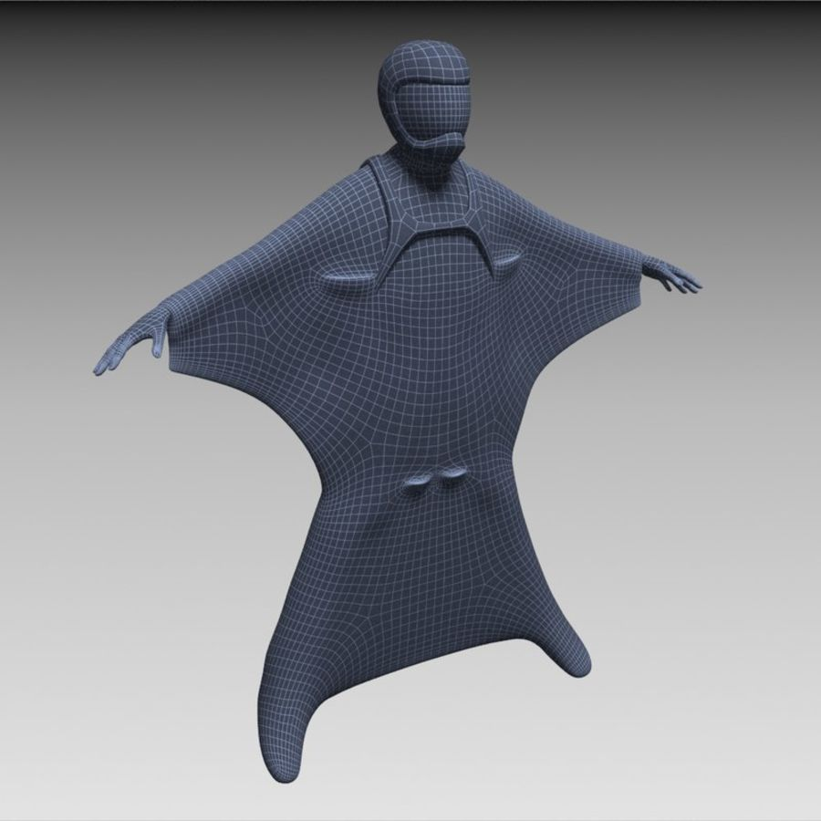 3D Wingsuit Male Flyer Model Rigged Animated royalty-free 3d model - Preview no. 13