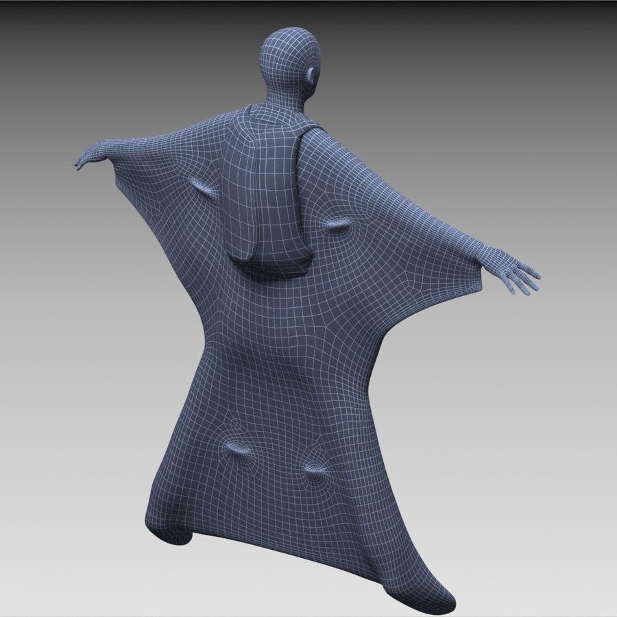 3D Wingsuit Mannelijke Flyer Model Rigged Animated royalty-free 3d model - Preview no. 17