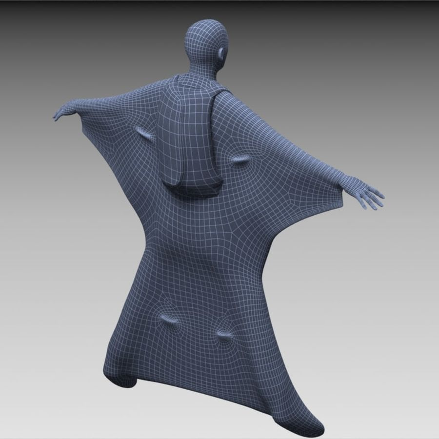 3D Wingsuit Male Flyer Model Rigged Animated royalty-free 3d model - Preview no. 17