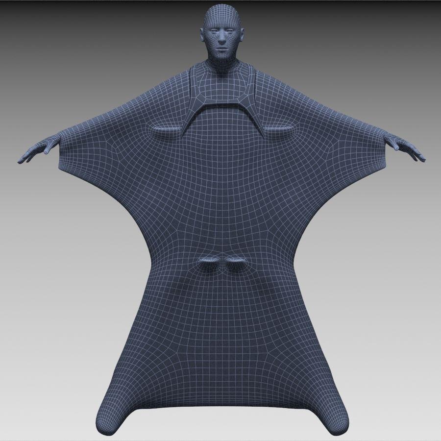 3D Wingsuit Mannelijke Flyer Model Rigged Animated royalty-free 3d model - Preview no. 15