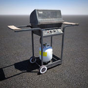 Old Gas Grill 3d model