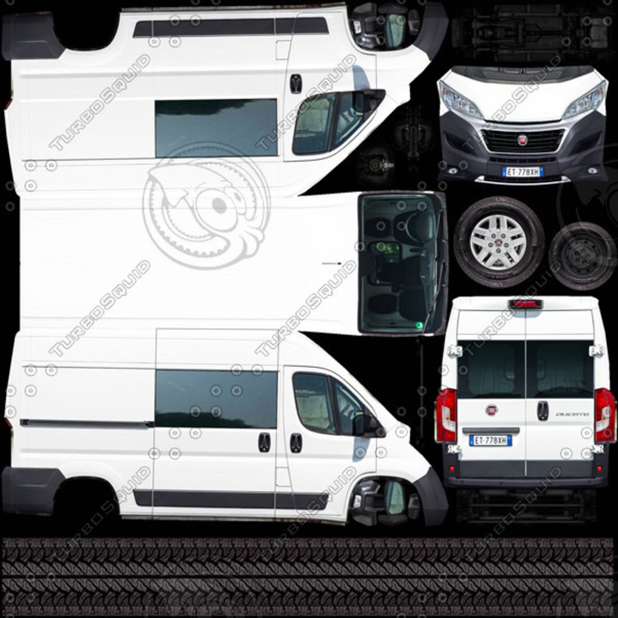 Fiat Ducato L2H2 2015 royalty-free 3d model - Preview no. 9
