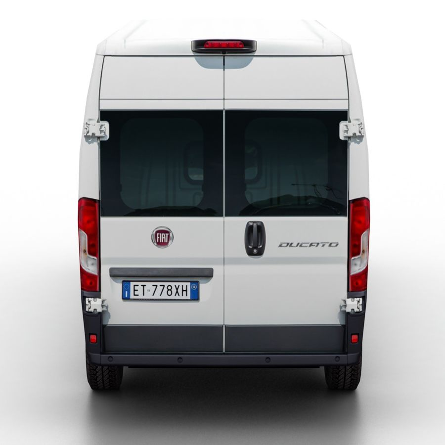 Fiat Ducato L2H2 2015 royalty-free 3d model - Preview no. 5