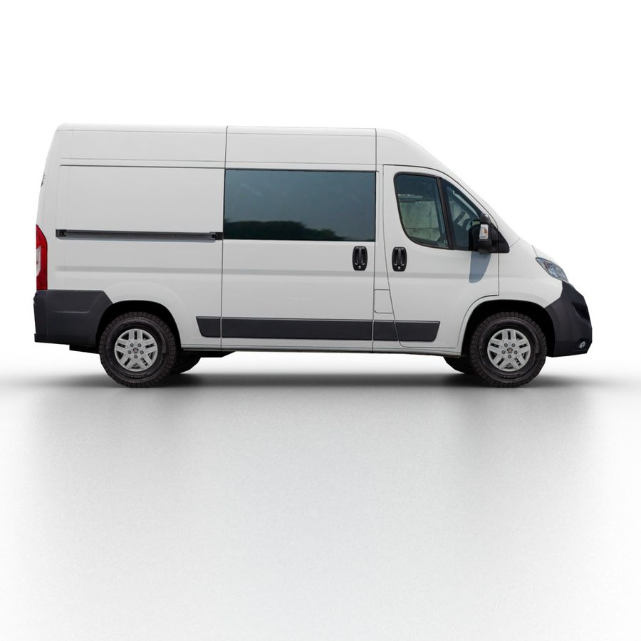 Fiat Ducato L2H2 2015 royalty-free 3d model - Preview no. 3