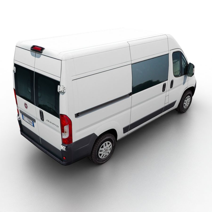 Fiat Ducato L2H2 2015 royalty-free 3d model - Preview no. 2