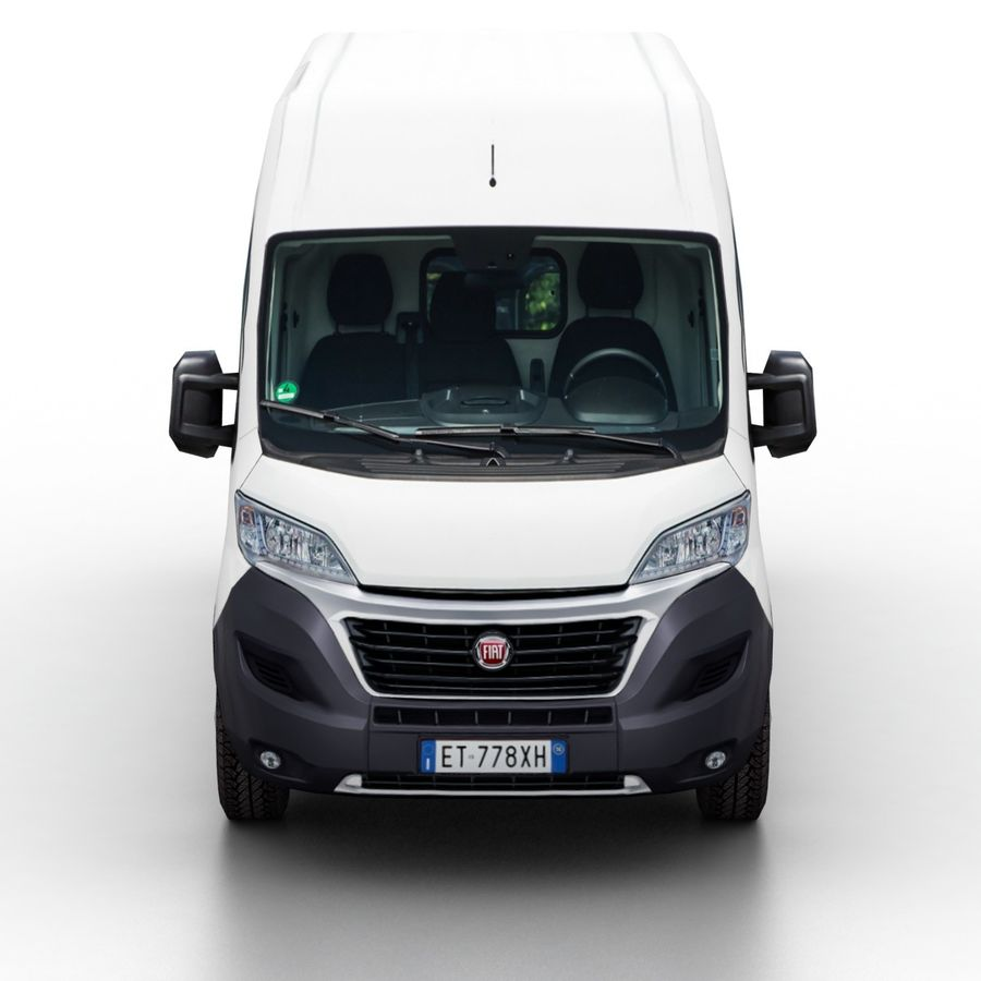 Fiat Ducato L2H2 2015 royalty-free 3d model - Preview no. 4