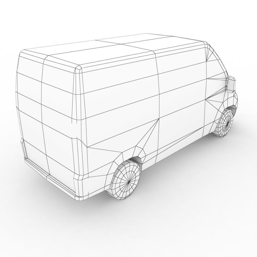 Fiat Ducato L2H2 2015 royalty-free 3d model - Preview no. 8
