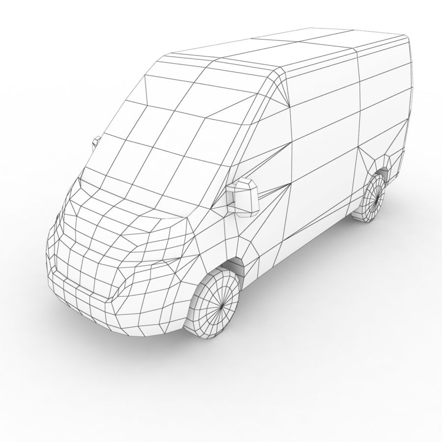 Fiat Ducato L2H2 2015 royalty-free 3d model - Preview no. 7