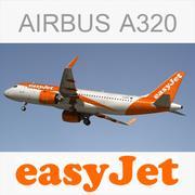 Airbus A320 Easyjet 3d model