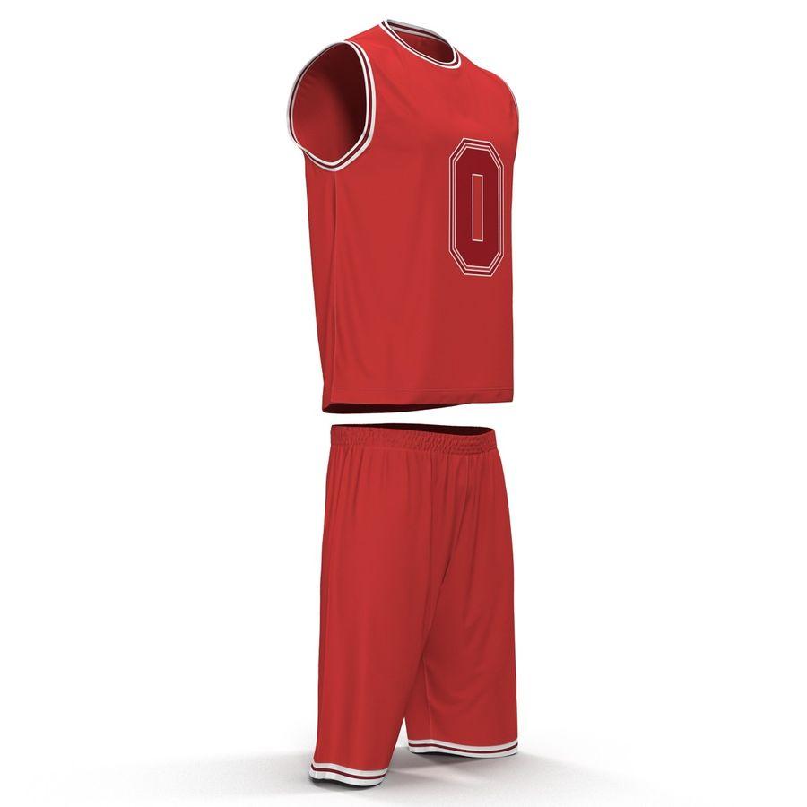 cheap for discount cdb4a b531c Basketball Uniform Red 3D Model $49 - .unknown .ma .max .obj ...