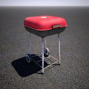 木炭烧烤 3d model