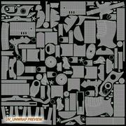 Steampunk Revolver 3d model
