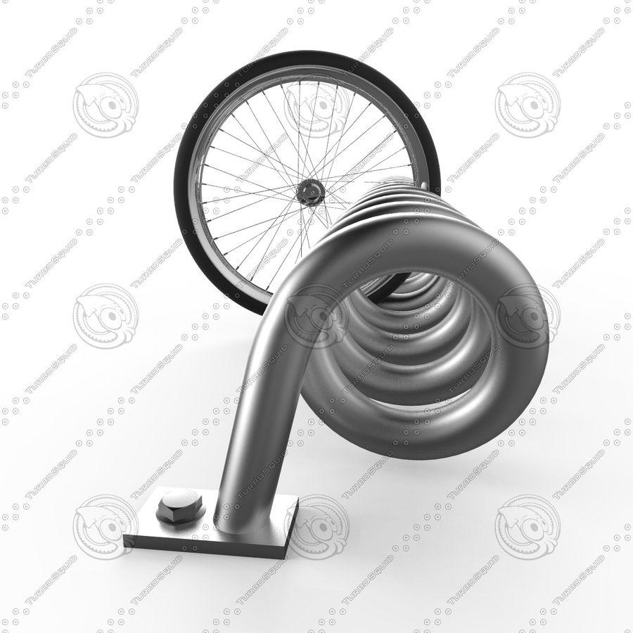 Bike Park + Bike wheel royalty-free 3d model - Preview no. 3