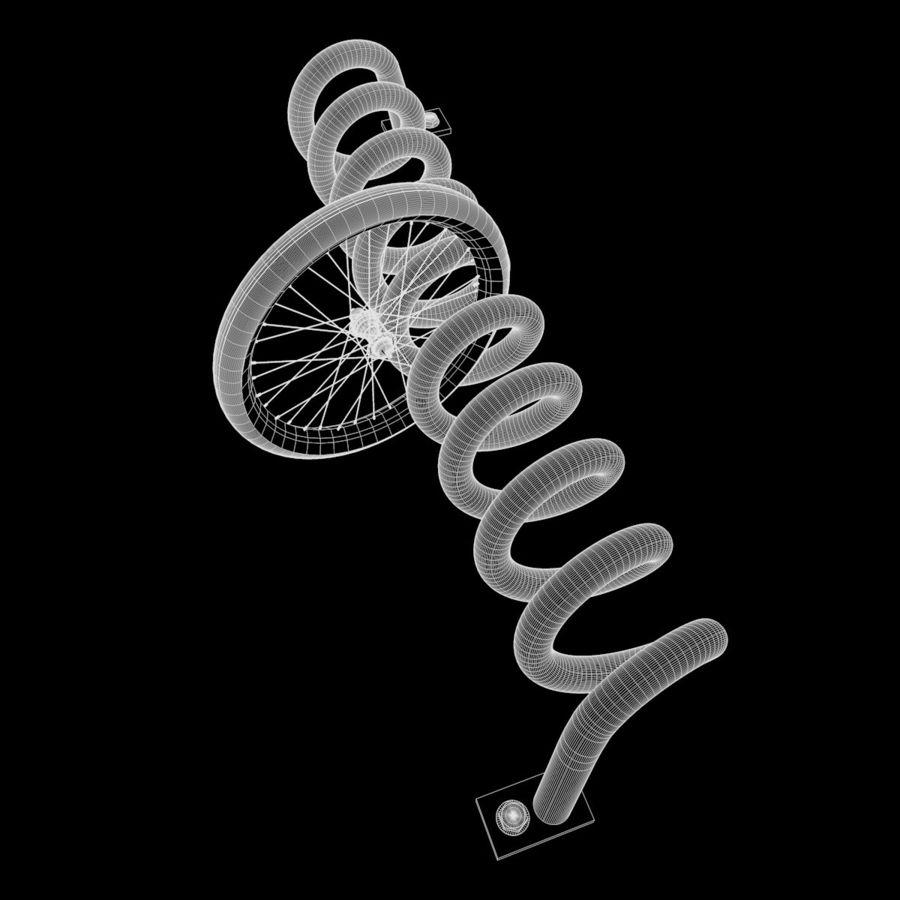 Bike Park + Bike wheel royalty-free 3d model - Preview no. 9