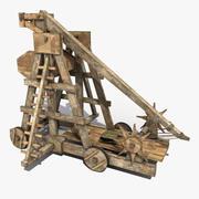 Old Wooden Trebuchet 3d model