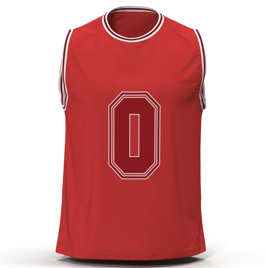 san francisco 86836 100ba Basketball Jersey Red 3D Model $29 - .unknown .c4d .ma .max ...