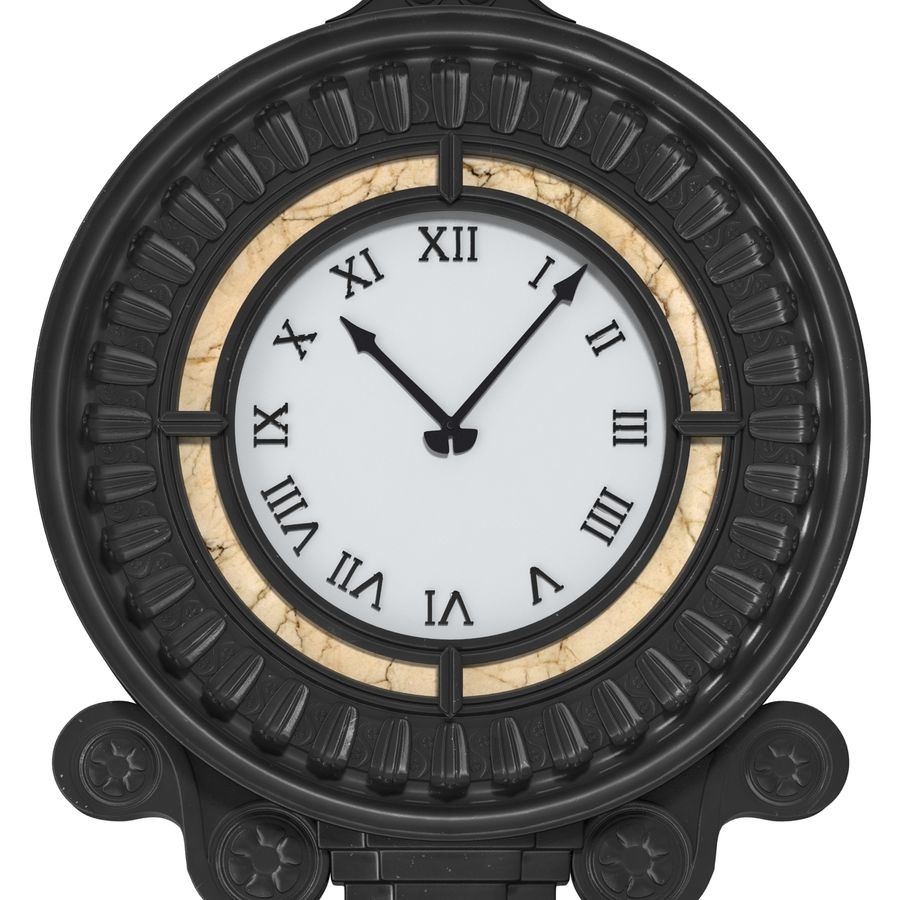 New York Street Clock royalty-free 3d model - Preview no. 12