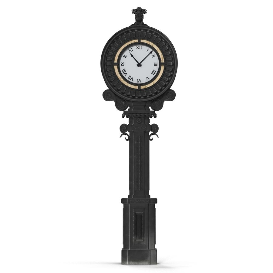 New York Street Clock royalty-free 3d model - Preview no. 3
