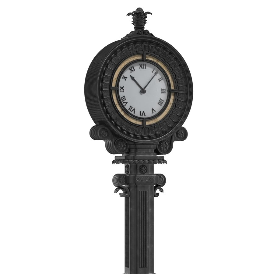 New York Street Clock royalty-free 3d model - Preview no. 8