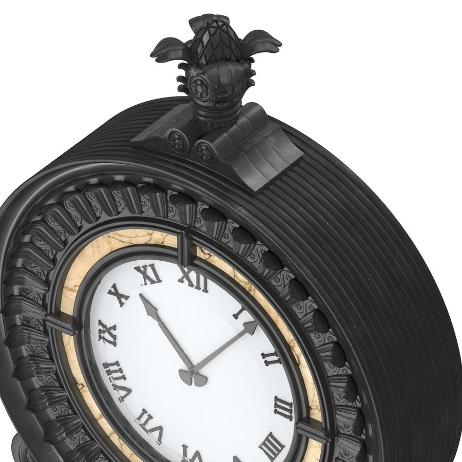 New York Street Clock royalty-free 3d model - Preview no. 13