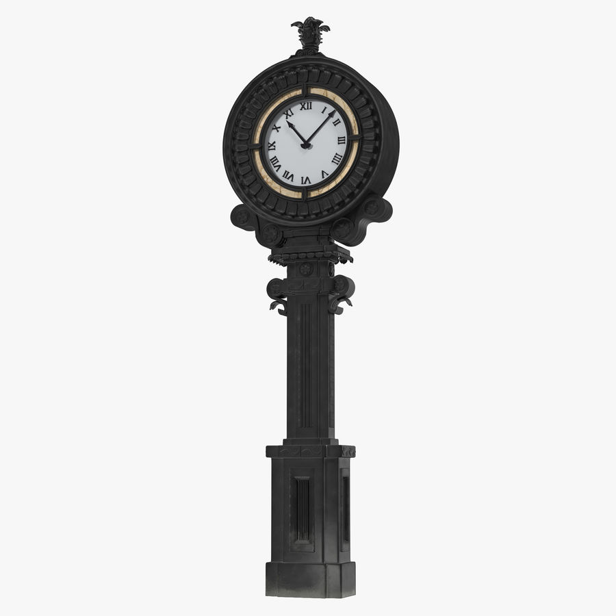 New York Street Clock royalty-free 3d model - Preview no. 1