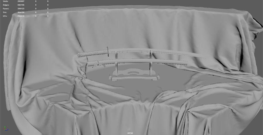 Katana royalty-free 3d model - Preview no. 5