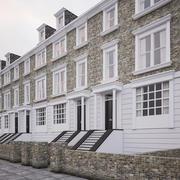 Georgian Residential Terrace Houses 3d model