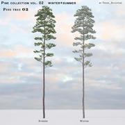 Pine-tree_02 (vol_02) verano + invierno modelo 3d