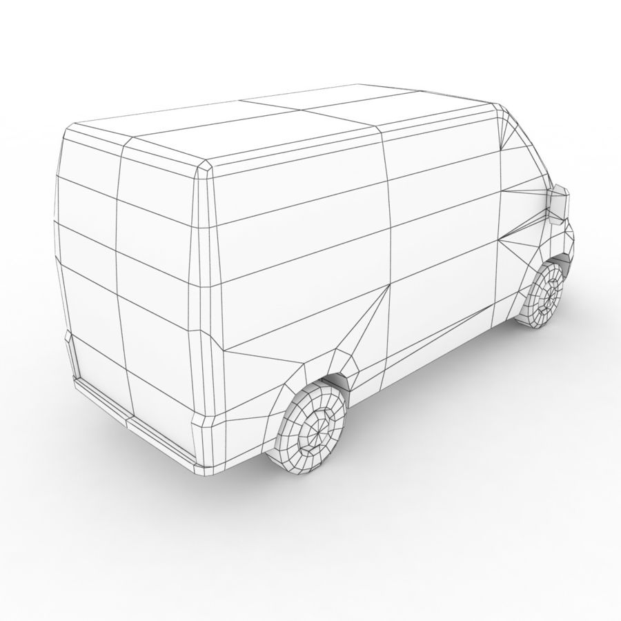 Peugeot Boxer Emergency Ambulance 2015 royalty-free 3d model - Preview no. 8